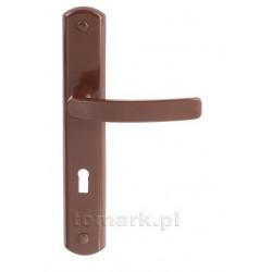 Klamka Tomark brązowa na klucz z długim szyldem