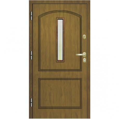 Drzwi wejściowe Domino Londyn z szybą